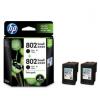 惠普(HP)L0S21AA 802s黑色墨盒双支装