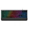 雷柏(Rapoo)V56 混光机械段落感 游戏键盘 黑色